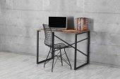 Metal Lüx Çalışma Masası Laptop Masası Dekor Ücretsiz Kargo