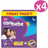 Canbebe Fırsat Paketi Bebek No 6 Bezi Extra Large 144 Adet (15kg+) 36*4