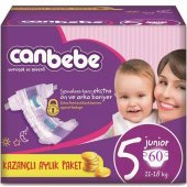 Canbebe Süper Fırsat Bebek Bezi No 5 Junior 60 Adet (11 18kg)