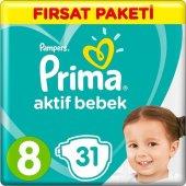 Prima Bebek Bezi 8 Beden +17 Kg 31 Adet